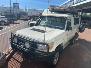 2011 Toyota Landcruiser Troopcarrier White 5 Speed Manual Motor Camper.