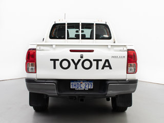 2015 Toyota Hilux GUN126R SR (4x4) White 6 Speed Manual Dual Cab Chassis