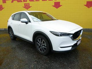 2017 Mazda CX-5 KF4W2A Akera SKYACTIV-Drive i-ACTIV AWD White 6 Speed Sports Automatic Wagon.