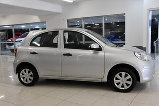 2011 Nissan Micra K13 ST Silver 4 Speed Automatic Hatchback.