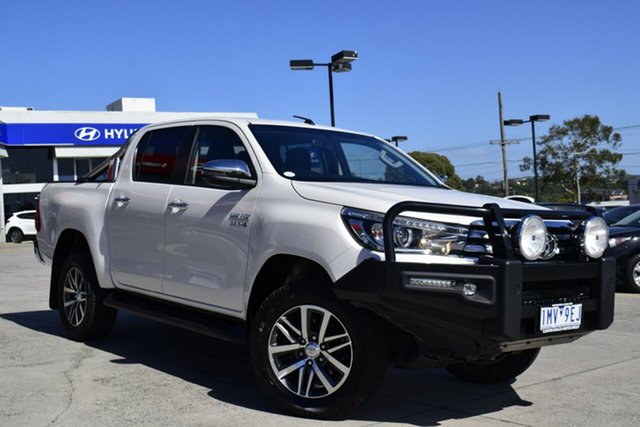 Used Toyota Hilux GUN126R SR5 Double Cab Ferntree Gully, 2018 Toyota Hilux GUN126R SR5 Double Cab White 6 Speed Sports Automatic Utility