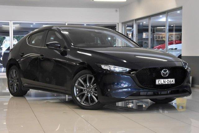 Demo Mazda 3 BP2H7A G20 SKYACTIV-Drive Evolve Waitara, 2020 Mazda 3 BP2H7A G20 SKYACTIV-Drive Evolve Blue 6 Speed Sports Automatic Hatchback
