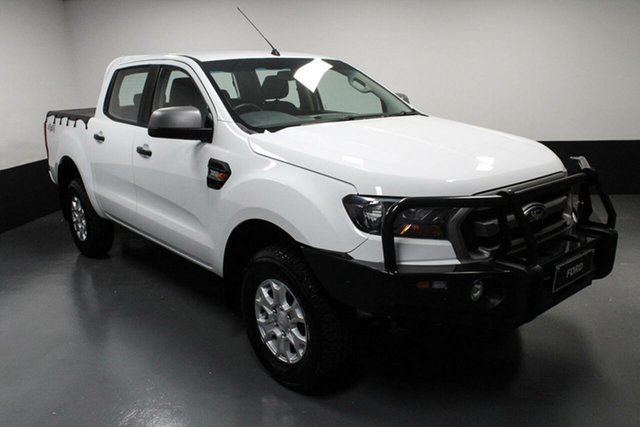 Used Ford Ranger PX MkII XLS Double Cab Hamilton, 2017 Ford Ranger PX MkII XLS Double Cab Frozen White 6 Speed Sports Automatic Utility