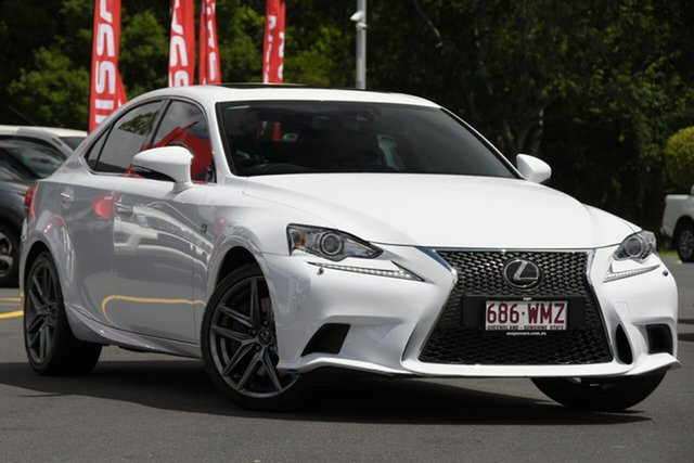 Used Lexus IS ASE30R IS200t F Sport Aspley, 2015 Lexus IS ASE30R IS200t F Sport White 8 Speed Sports Automatic Sedan