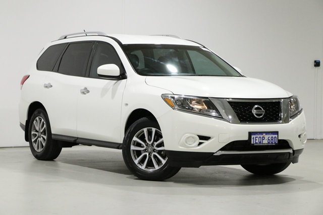 Used Nissan Pathfinder R52 ST (4x2) Bentley, 2014 Nissan Pathfinder R52 ST (4x2) White Continuous Variable Wagon