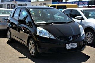 2010 Honda Jazz GE MY10 GLi Black 5 Speed Manual Hatchback.