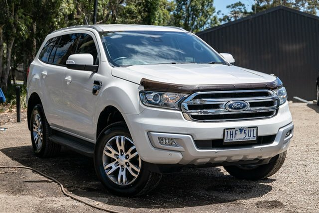 Used Ford Everest UA Trend Mornington, 2015 Ford Everest UA Trend Cool White 6 Speed Sports Automatic SUV