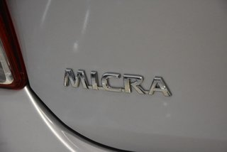 2011 Nissan Micra K13 ST Silver 4 Speed Automatic Hatchback