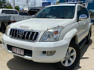 2004 Toyota Landcruiser Prado GRJ120R Grande White 5 Speed Automatic Wagon