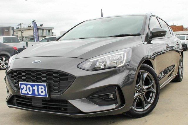 Used Ford Focus SA 2019MY ST-Line Coburg North, 2018 Ford Focus SA 2019MY ST-Line Grey 8 Speed Automatic Hatchback