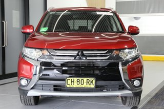 2016 Mitsubishi Outlander ZK MY16 XLS (4x2) Rose Red Continuous Variable Wagon