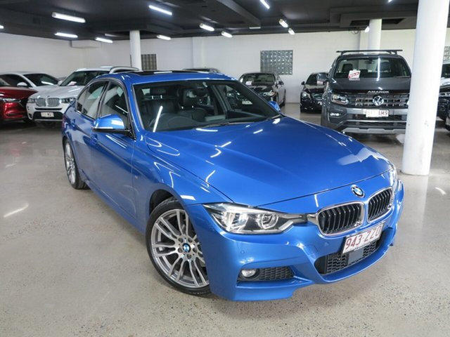 Used BMW 3 Series F30 LCI 330i M Sport Albion, 2017 BMW 3 Series F30 LCI 330i M Sport Estoril Blue 8 Speed Sports Automatic Sedan