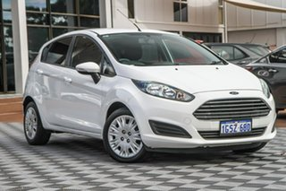 2013 Ford Fiesta WZ Ambiente PwrShift White 6 Speed Sports Automatic Dual Clutch Hatchback