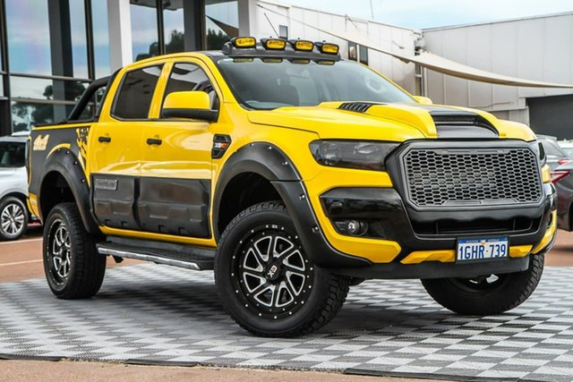Used Ford Ranger PX MkII XLS Double Cab Attadale, 2017 Ford Ranger PX MkII XLS Double Cab Yellow 6 Speed Sports Automatic Utility