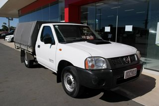 2010 Nissan Navara D22 MY2010 DX 4x2 White 5 Speed Manual Cab Chassis.