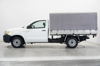 2005 Toyota Hilux GGN15R MY05 SR 4x2 White 5 Speed Manual Cab Chassis.