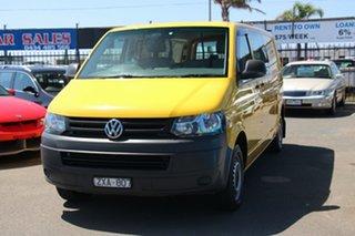 2013 Volkswagen Transporter T5 MY13 TDI340 LWB DSG Yellow 7 Speed Sports Automatic Dual Clutch Van.