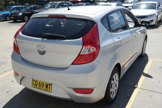 2013 Hyundai Accent RB Active Silver 4 Speed Sports Automatic Hatchback