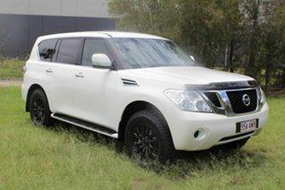 2013 Nissan Patrol Y62 ST-L White 7 Speed Sports Automatic Wagon
