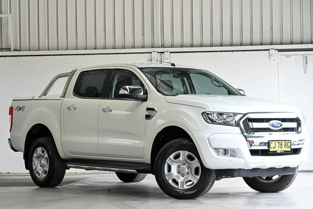 Used Ford Ranger PX MkII XLT Double Cab Laverton North, 2016 Ford Ranger PX MkII XLT Double Cab White 6 Speed Sports Automatic Utility