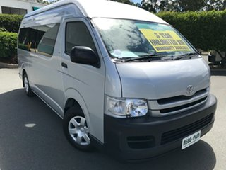 2010 Toyota HiAce KDH223R MY10 Commuter High Roof Super LWB Silver Mica 4 speed Automatic Bus.