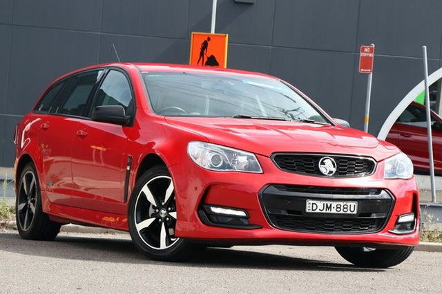 Used Holden Commodore VF II MY16 SV6 Sportwagon Black Parramatta, 2016 Holden Commodore VF II MY16 SV6 Sportwagon Black Red 6 Speed Sports Automatic Wagon