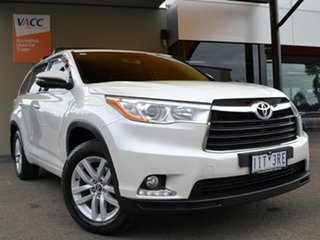 2016 Toyota Kluger GSU55R GX AWD White 6 Speed Sports Automatic Wagon.