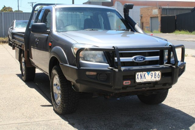 Used Ford Ranger PK XLT (4x4) West Footscray, 2010 Ford Ranger PK XLT (4x4) Grey 5 Speed Manual Super Cab Utility