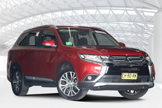 2016 Mitsubishi Outlander ZK MY16 XLS (4x2) Rose Red Continuous Variable Wagon.