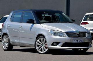 2013 Skoda Fabia 5JF MY13 RS DSG 132TSI Silver 7 Speed Sports Automatic Dual Clutch Hatchback.