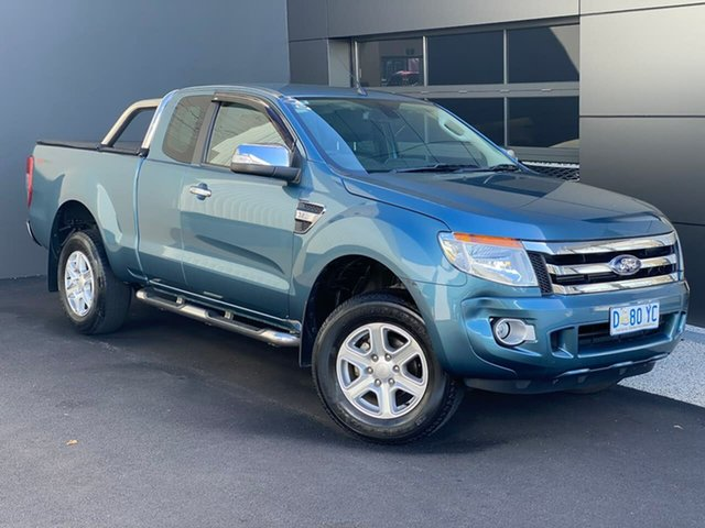 Used Ford Ranger PX XLT Super Cab 4x2 Hi-Rider Hobart, 2014 Ford Ranger PX XLT Super Cab 4x2 Hi-Rider Blue 6 Speed Sports Automatic Utility