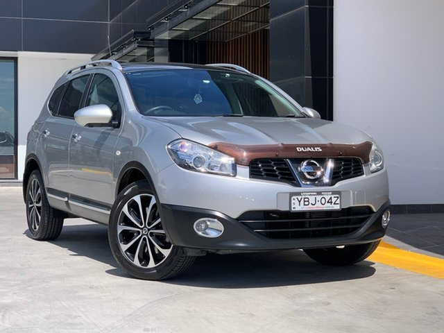 Used Nissan Dualis J107 Series 3 MY12 +2 Hatch X-tronic 2WD Ti-L Liverpool, 2012 Nissan Dualis J107 Series 3 MY12 +2 Hatch X-tronic 2WD Ti-L Silver 6 Speed Constant Variable