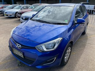 2013 Hyundai i20 PB MY14 Active Blue 4 Speed Automatic Hatchback.