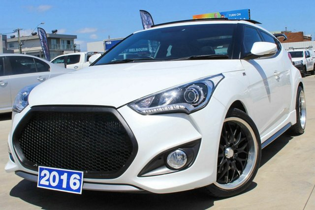 Used Hyundai Veloster FS4 Series II SR Coupe Turbo Coburg North, 2016 Hyundai Veloster FS4 Series II SR Coupe Turbo White 6 Speed Manual Hatchback