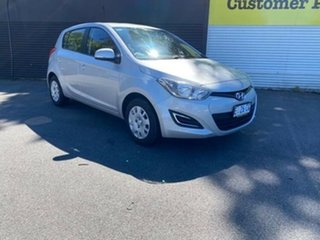 2014 Hyundai i20 PB MY15 Active Silver 6 Speed Manual Hatchback.