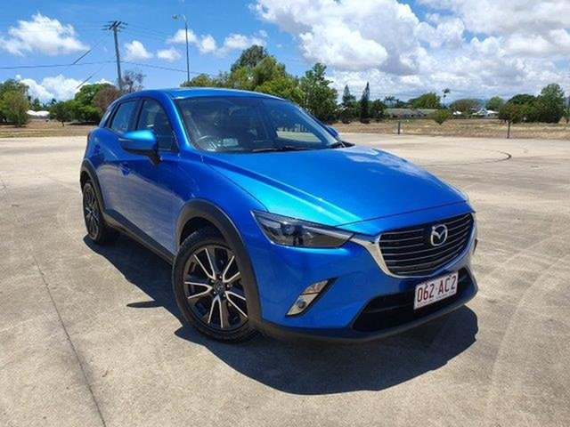 Used Mazda CX-3 DK2W7A sTouring SKYACTIV-Drive Townsville, 2015 Mazda CX-3 DK2W7A sTouring SKYACTIV-Drive Blue 6 Speed Sports Automatic Wagon