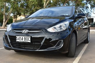2016 Hyundai Accent RB3 MY16 Active Black 6 Speed Constant Variable Hatchback.