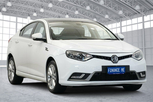Used MG MG6 IP2X Essence Victoria Park, 2017 MG MG6 IP2X Essence Mountain White & Black Roof 6 Speed Sports Automatic Dual Clutch Hatchback