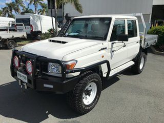 2016 Toyota Landcruiser VDJ79R Workmate Double Cab French Vanilla 5 speed Manual Cab Chassis