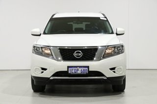 2014 Nissan Pathfinder R52 ST (4x2) White Continuous Variable Wagon.