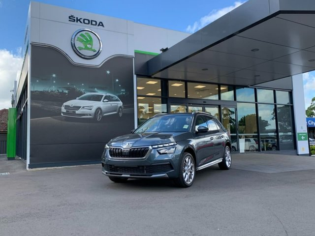Demo Skoda Kamiq NW MY21 85TSI DSG FWD Botany, 2020 Skoda Kamiq NW MY21 85TSI DSG FWD Grey 7 Speed Sports Automatic Dual Clutch Wagon