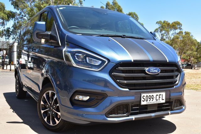 Used Ford Transit Custom VN 2020.50MY 320L (Low Roof) Sport St Marys, 2020 Ford Transit Custom VN 2020.50MY 320L (Low Roof) Sport Blue 6 Speed Automatic Double Cab Van