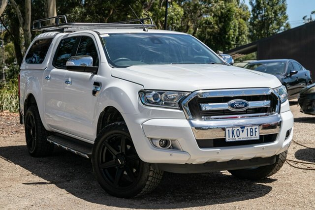 Used Ford Ranger PX MkII XLT Double Cab 4x2 Hi-Rider Mornington, 2017 Ford Ranger PX MkII XLT Double Cab 4x2 Hi-Rider White 6 Speed Sports Automatic Utility
