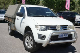 2010 Mitsubishi Triton MN MY10 GLX White 5 Speed Manual Cab Chassis.