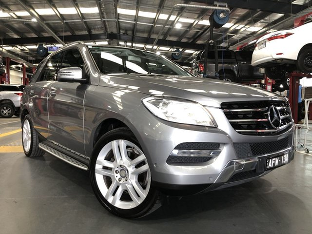 Pre-Owned Mercedes-Benz M-Class W166 MY805 ML250 BlueTEC 7G-Tronic + Oakleigh, 2015 Mercedes-Benz M-Class W166 MY805 ML250 BlueTEC 7G-Tronic + Silver 7 Speed Sports Automatic