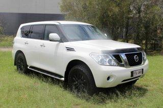 2013 Nissan Patrol Y62 ST-L White 7 Speed Sports Automatic Wagon.