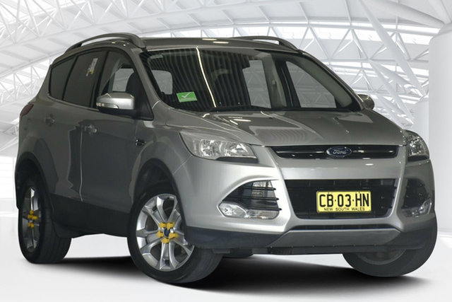 Used Ford Kuga TF Trend (AWD) Moorebank, 2014 Ford Kuga TF Trend (AWD) Silver 6 Speed Automatic Wagon