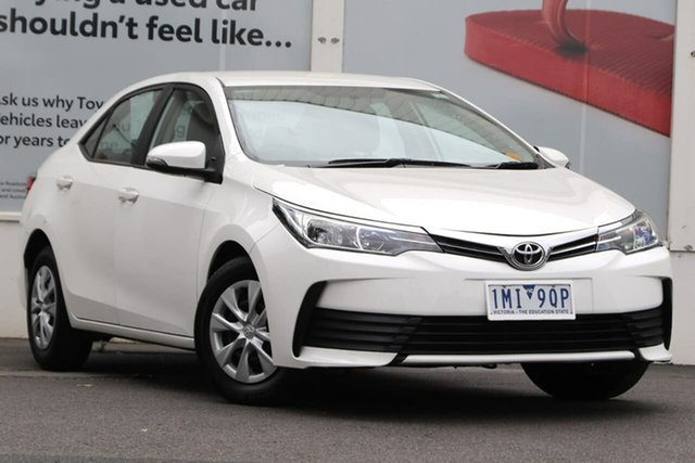 Pre-Owned Toyota Corolla ZRE172R Ascent S-CVT Ferntree Gully, 2017 Toyota Corolla ZRE172R Ascent S-CVT Glacier White 7 Speed Constant Variable Sedan