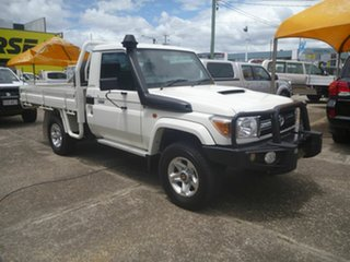 2010 Toyota Landcruiser VDJ79R MY10 GXL White 5 Speed Manual Cab Chassis.