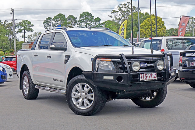 Used Ford Ranger PX Wildtrak Double Cab Chandler, 2014 Ford Ranger PX Wildtrak Double Cab White 6 Speed Sports Automatic Utility